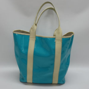 Jonathan Adler Turquoise Patent Leather Tote